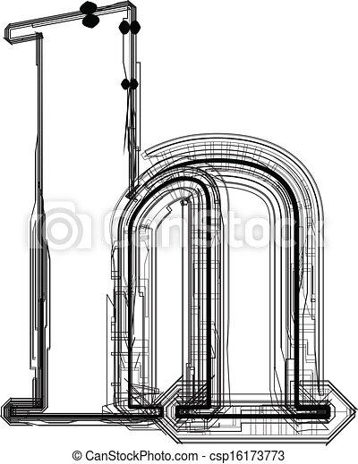 h, font., litera, techniczny - csp16173773