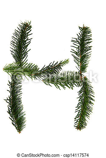 H Symbol From Christmas Alphabet H Symbol From Pine Tree Part