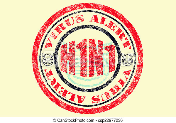 H1N1 Virus Alert Concept - csp22977236