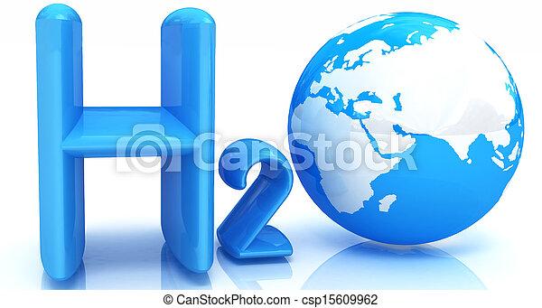 H2O. Formula of water - csp15609962