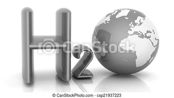 H2O. Formula of water - csp21937223