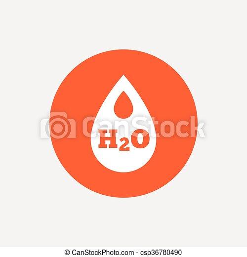 H2O Water drop sign icon. Tear symbol. - csp36780490