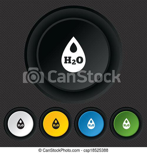 H2O Water drop sign icon. Tear symbol. - csp18525388