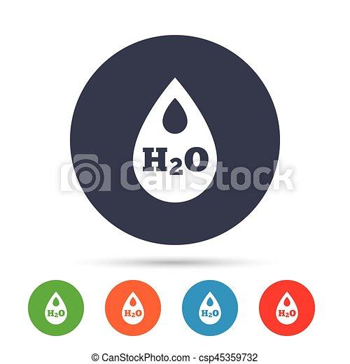 H2O Water drop sign icon. Tear symbol. - csp45359732