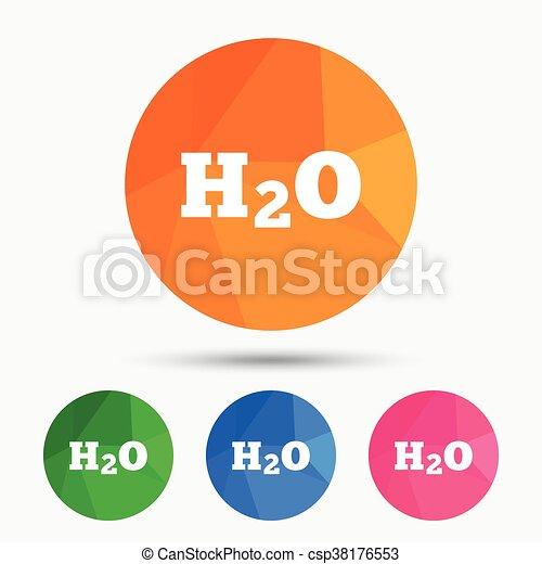 H2O Water formula sign icon. Chemistry symbol. - csp38176553