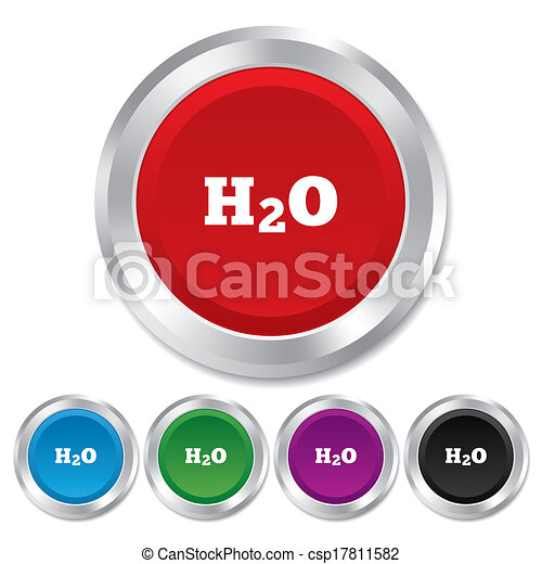 H2O Water formula sign icon. Chemistry symbol. - csp17811582