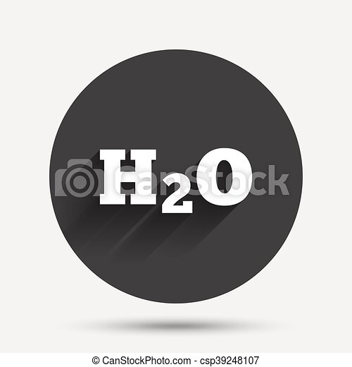 H2O Water formula sign icon. Chemistry symbol. - csp39248107