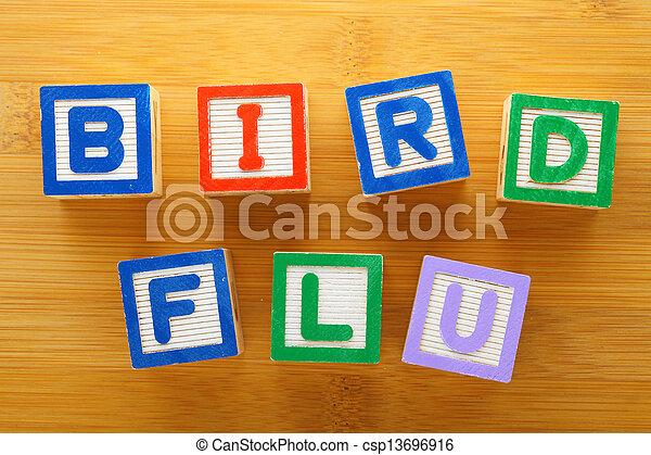 h7n9, jouet, grippe, oiseau, bloc - csp13696916