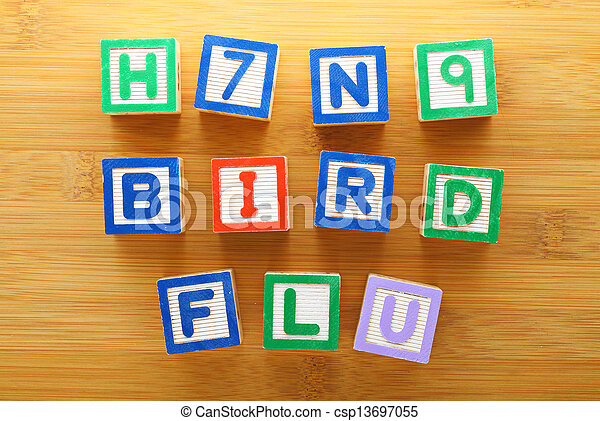 h7n9, jouet, grippe, oiseau, bloc - csp13697055