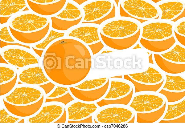 ha fatto pezzi, arance - csp7046286