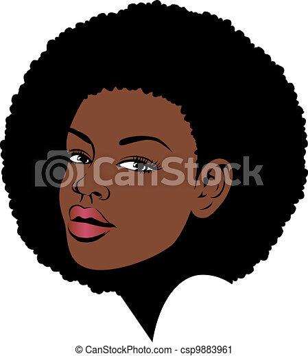 haar, amerikaanse vrouw, afro - csp9883961