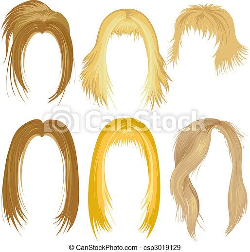 haar gestaltend, blond - csp3019129