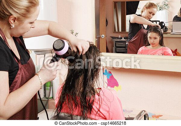 Friseur-Teenager