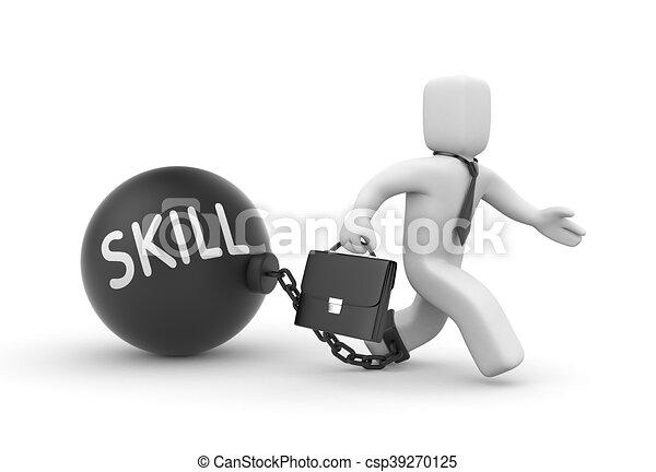 habilidade, metaphor., cima, ilustração, 3d - csp39270125