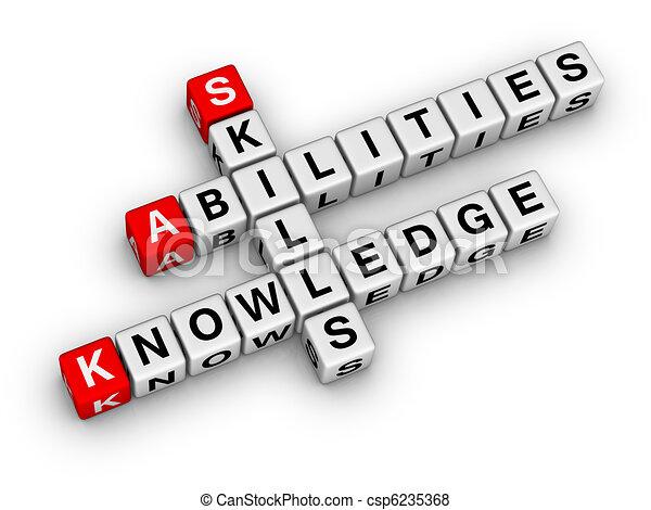 habilidades, conocimiento, habilidades - csp6235368