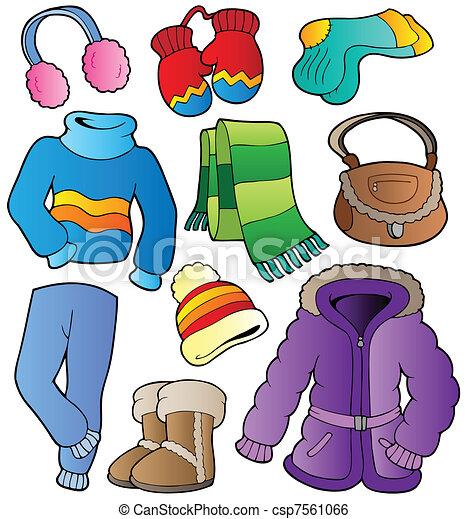 habillement, 1, hiver, collection - csp7561066