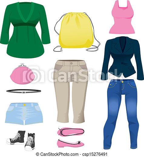 habillement, collection, femmes - csp15276491