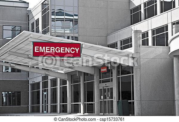 habitación de hospital, emergencia - csp15733761