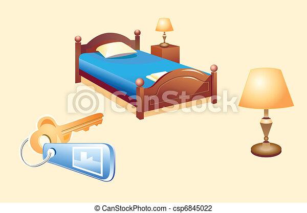 Objetos de habitación de hotel - csp6845022