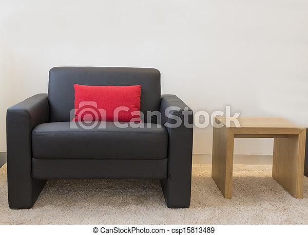 Habitación con muebles - csp15813489