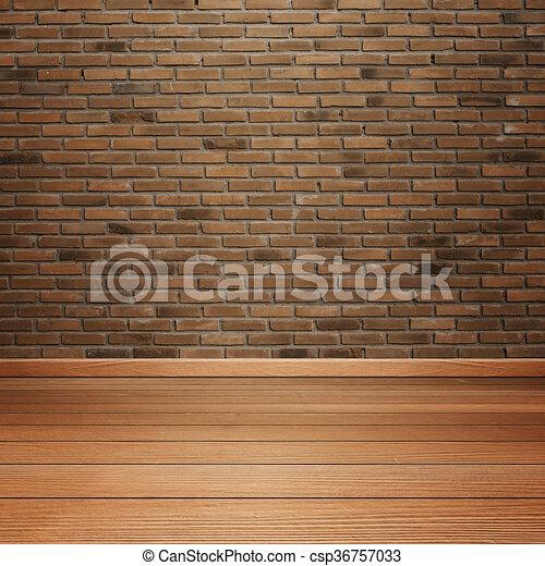Habitaci n piso pared madera interior ladrillo vac o - Habitacion de madera ...