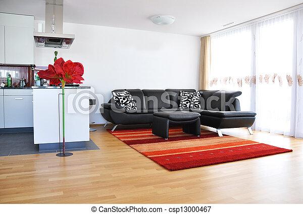 Sala de estar moderna - csp13000467