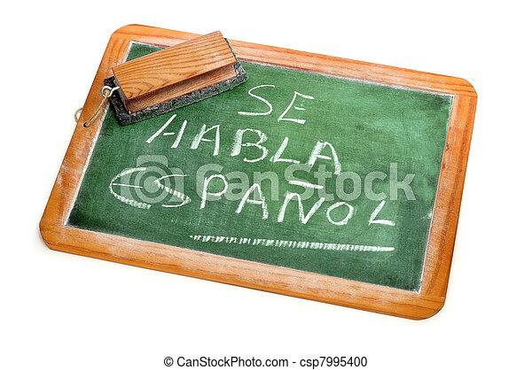hablado, español - csp7995400