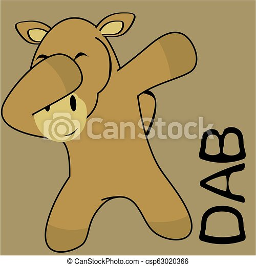 Un dibujo animado de un chico de camello - csp63020366
