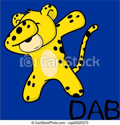 Un dibujo animado de niño leopardo - csp63020373