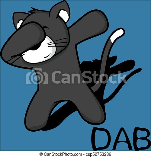 Un dibujo animado de niño gato - csp52753236