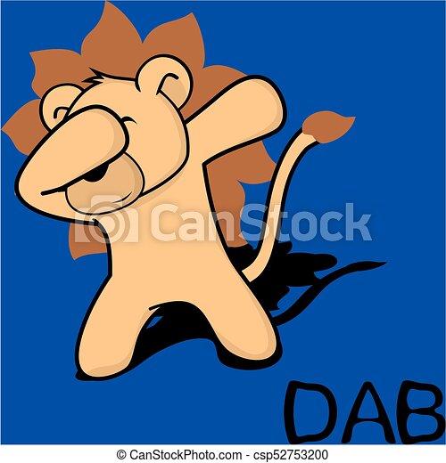 Dab pinchando dibujos del chico león - csp52753200