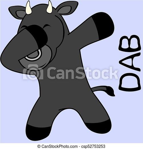 Un dibujo de niño toro - csp52753253