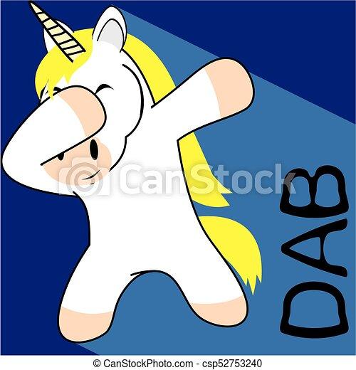 Un dibujo animado de un unicornio - csp52753240