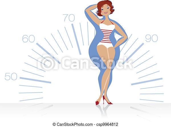 Mujer de dieta - csp9964812