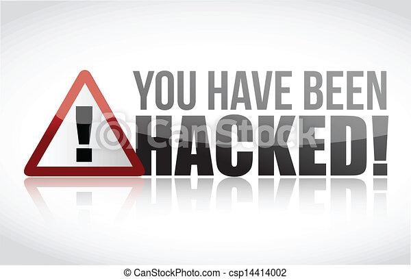 hacked, tu, ter, sido, sinal - csp14414002