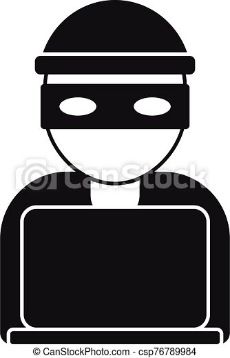 Hacker Icon Simple Style Hacker Icon Simple Illustration Of Hacker Vector Icon For Web Design Isolated On White Background