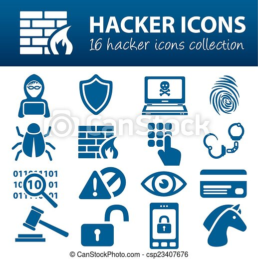 hacker icons - csp23407676