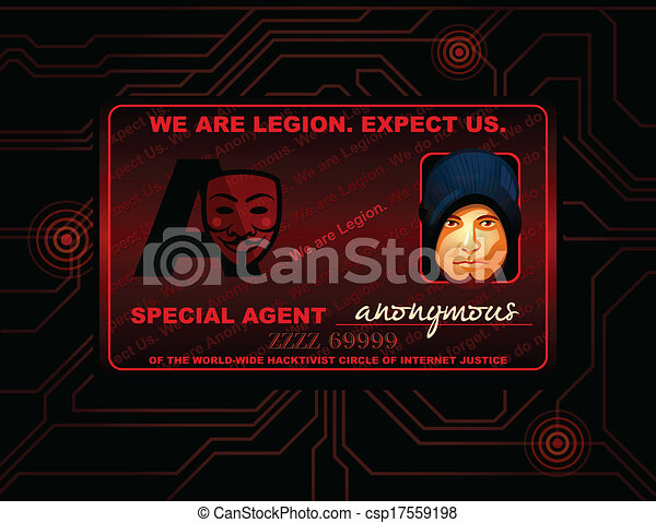 Hacker Id Card Hacker Of Special Cyber Agent Anonymous Id Card