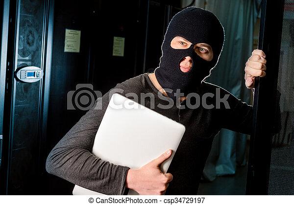 Hacker in a datacenter - csp34729197