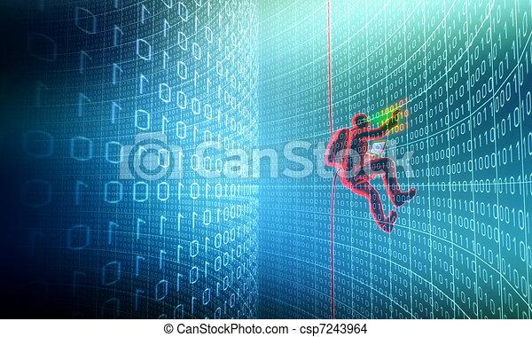 Hacker in Action - csp7243964