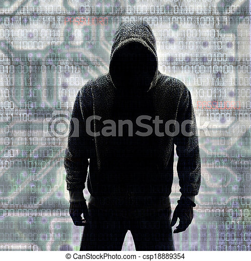 Hacker in Silhouette and Binary Codes - csp18889354