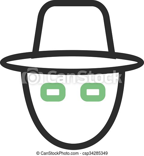 hacker mask mask robbery hacker rain protection icon vector image can also be used for security suitable for use on web https www canstockphoto com hacker mask 34285349 html