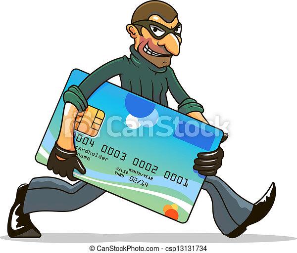Hacker or thief stealing credit card - csp13131734