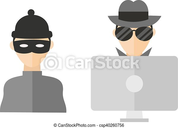 Hacker vector illustration. - csp40260756