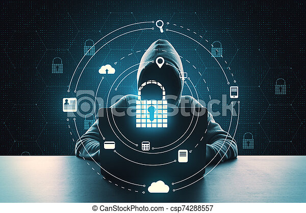 Hacking and antivirus concept - csp74288557