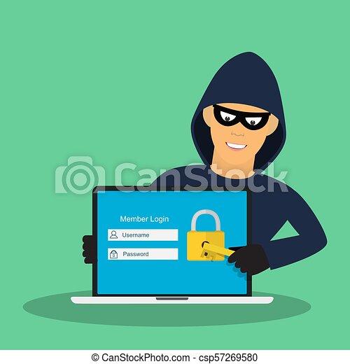 hacking., concept - csp57269580