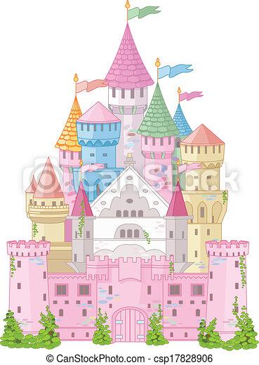 Castillo de cuento de hadas - csp17828906