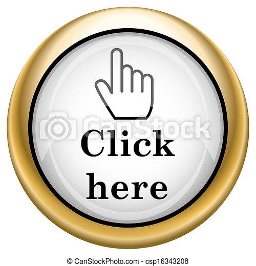 Clic aquí icono - csp16343208