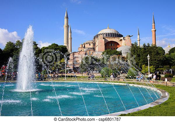 Hagia Sofia in Istanbul - csp6801787