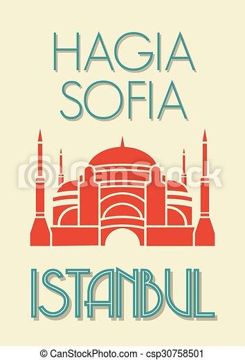 Hagia Sophia, Istanbul poster - csp30758501